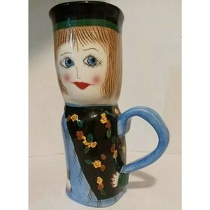 SUSAN PALEY CERAMIC MUG CAROLINE COFFEE  GANZ